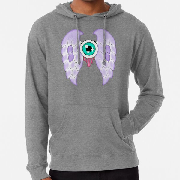 Pastel Goth | Winged Eye | White Lightweight Hoodie