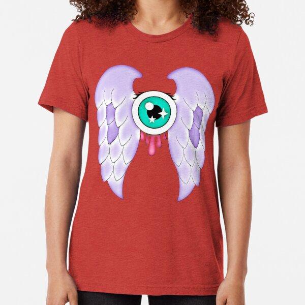 Pastel Goth | Winged Eye | White Tri-blend T-Shirt
