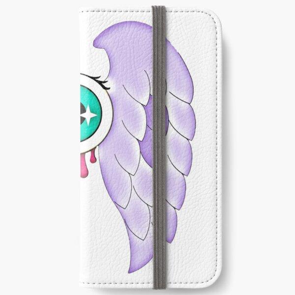 Pastel Goth | Winged Eye | White iPhone Wallet