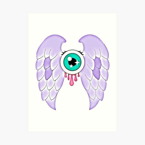 Pastel Goth | Winged Eye | White Art Print