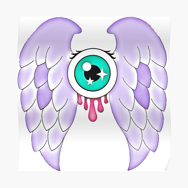 Pastel Goth | Winged Eye | White Poster