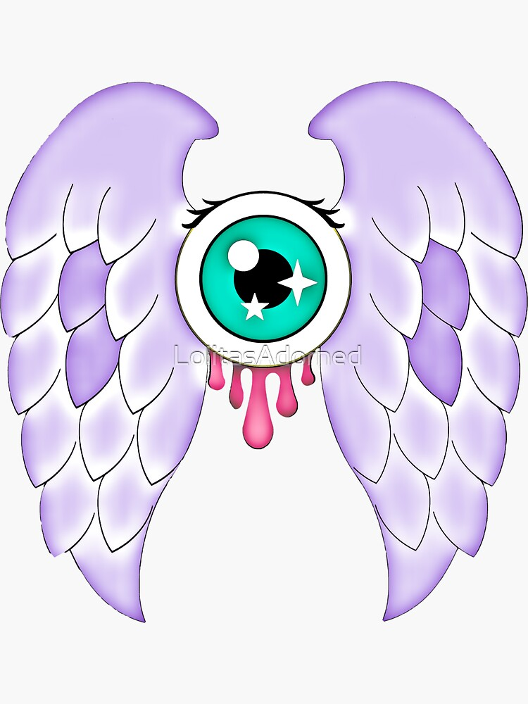 Pastel Goth | Winged Eye | White by LolitasAdorned
