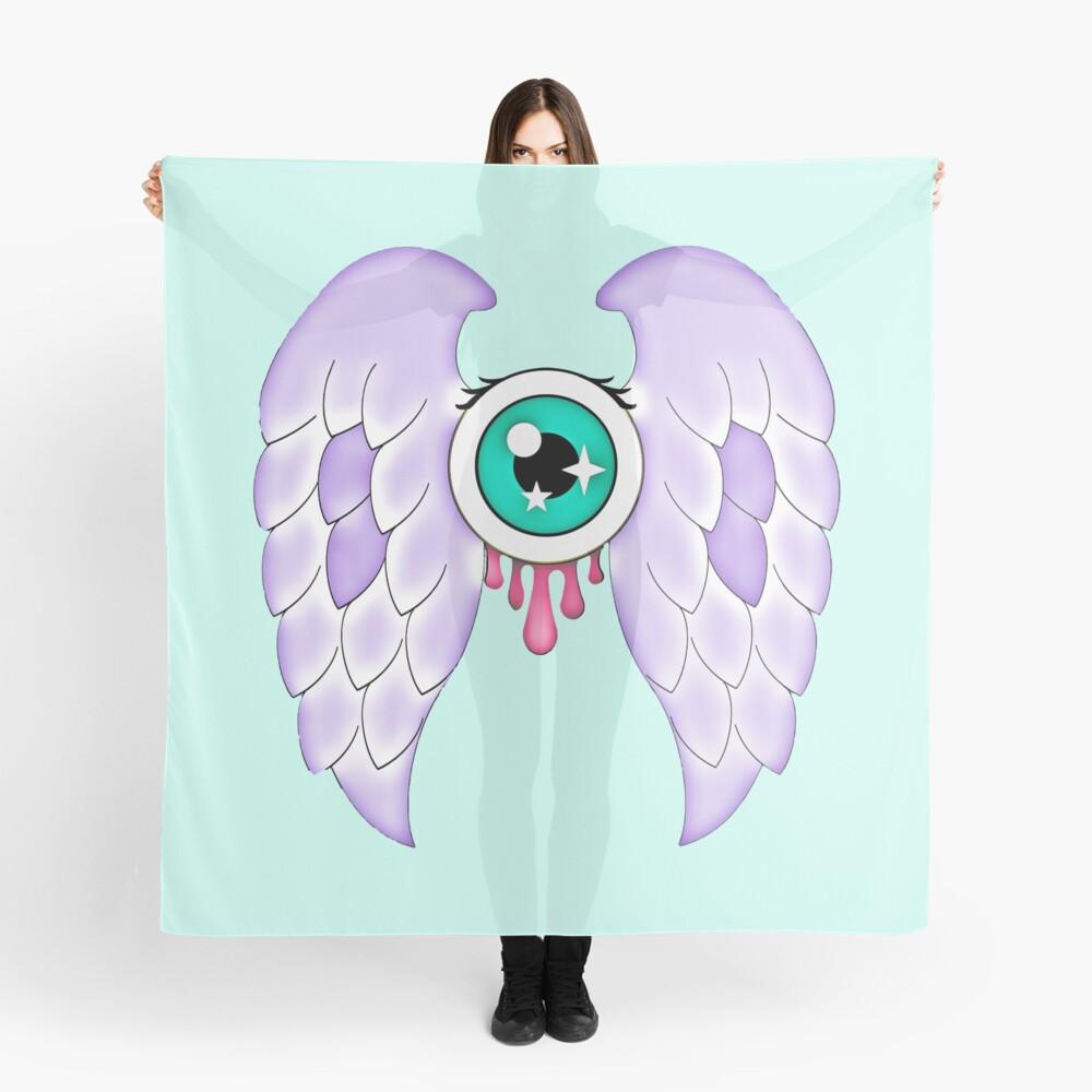 Pastel Goth | Winged Eye | Aquamarine Scarf
