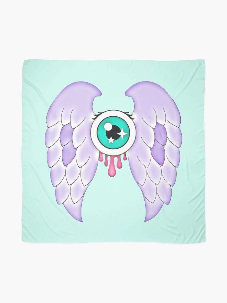 Alternate view of Pastel Goth | Winged Eye | Aquamarine Scarf