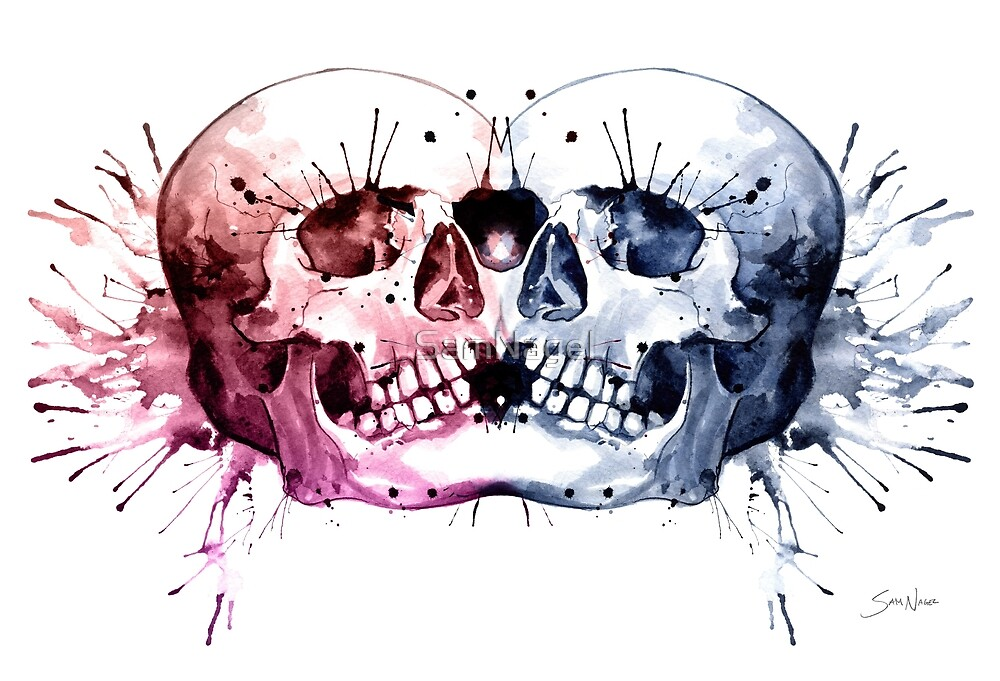Conjoined Skull by SamNagel