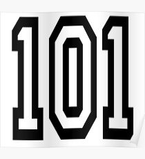 101, TEAM SPORTS, NUMBER 101, one o one, Competition Poster