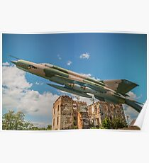 Military Jet Fighter Poster