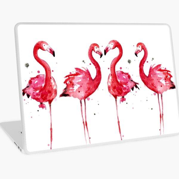 Pink Flamingos Laptop Skin