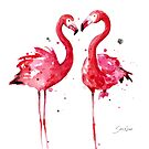 Pink Flamingos by SamNagel