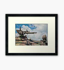 Battle Tank Machine Gun Framed Print