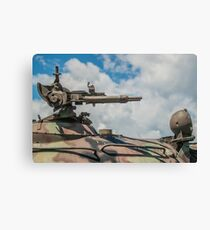 Battle Tank Machine Gun Canvas Print