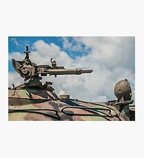 Battle Tank Machine Gun Photographic Print