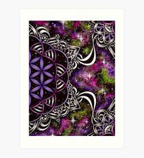 Flower of Life - purple Art Print