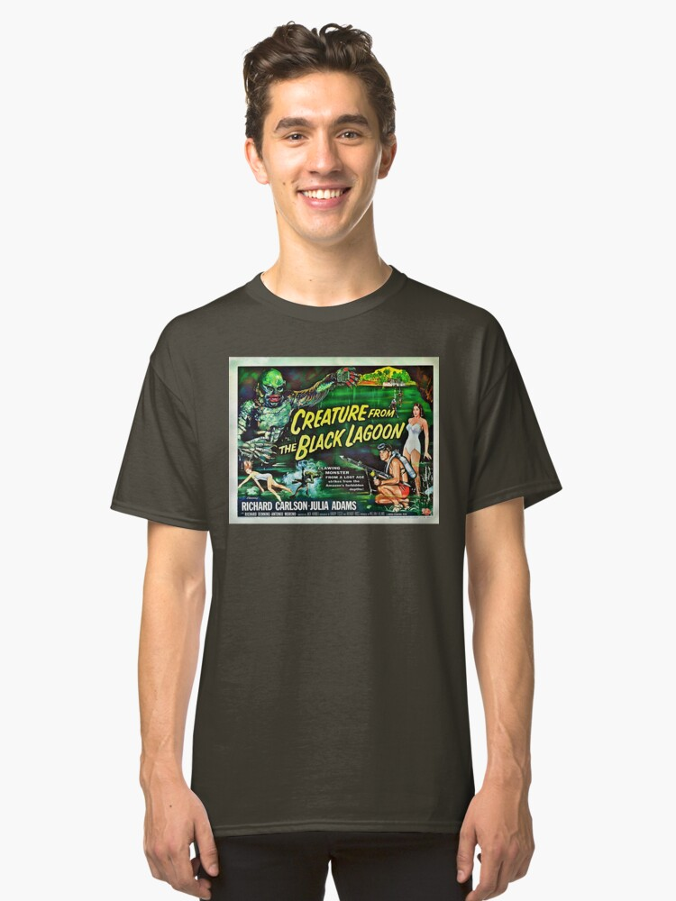 Alternate view of Let's Go for a Swim! 1954 Horror Flick Classic T-Shirt