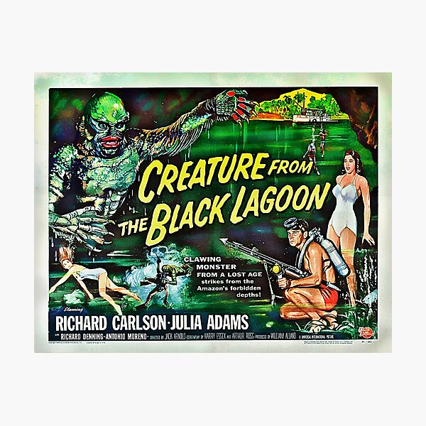 Let's Go for a Swim! 1954 Horror Flick Photographic Print
