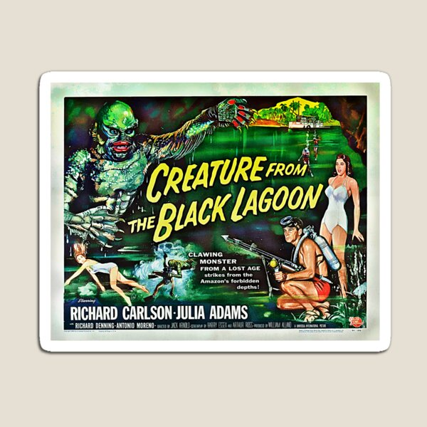 Let's Go for a Swim! 1954 Horror Flick Magnet