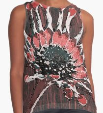 African Daisy in red Contrast Tank
