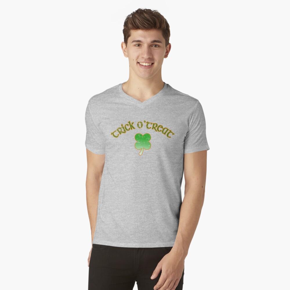 Trick O'Treat Mens V-Neck T-Shirt Front