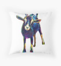 Gertie the Goat, Star of the Show Throw Pillow