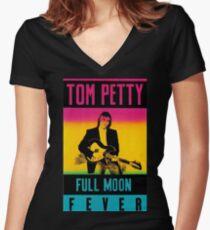 01 Tom Petty Full Moon Fever Women's Fitted V-Neck T-Shirt