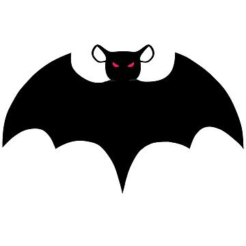 Halloween Bat, with Wings Spread, Rat with Wings Spread by ScottSakamoto