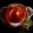 Glowing Rose Tapestry by Zoe Marlowe