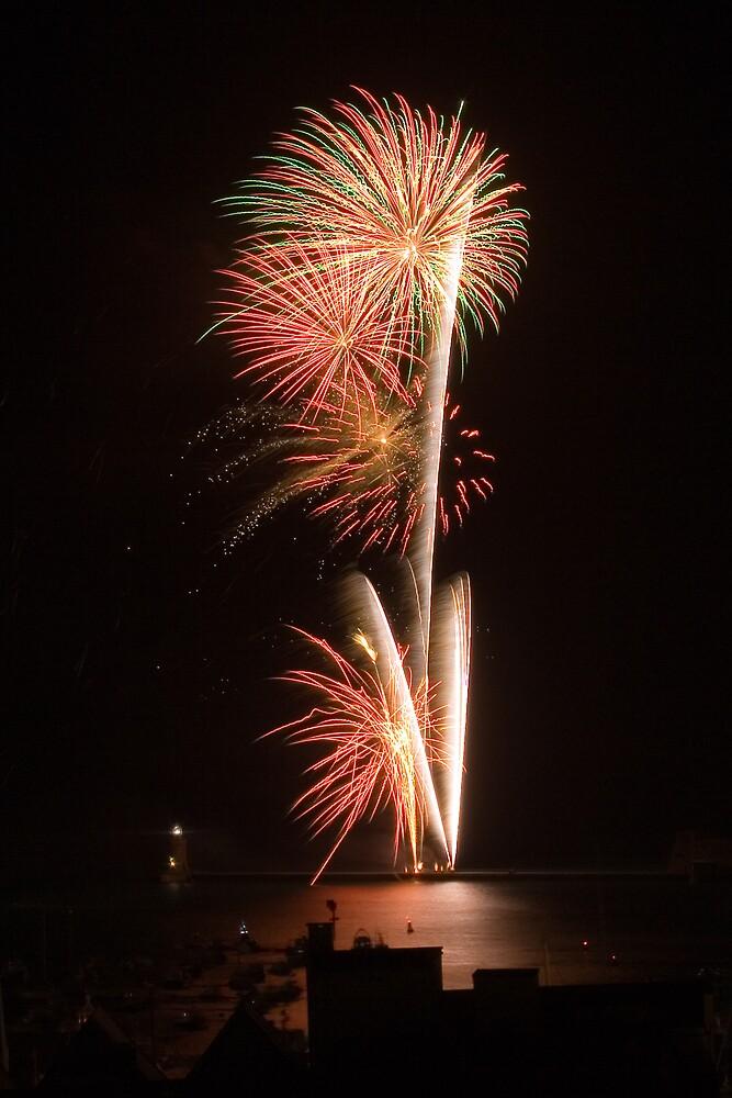 Harbour Carnival Fireworks by Karen Millard