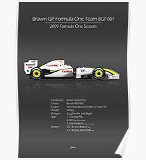 Brawn GP - BGP 001 2009 F1 Poster