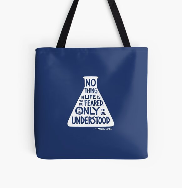 Marie Curie All Over Print Tote Bag