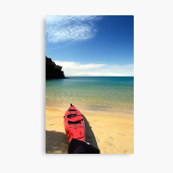 Red Kayak Canvas Print