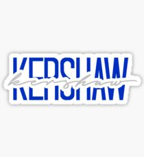 clayton kershaw name font Sticker