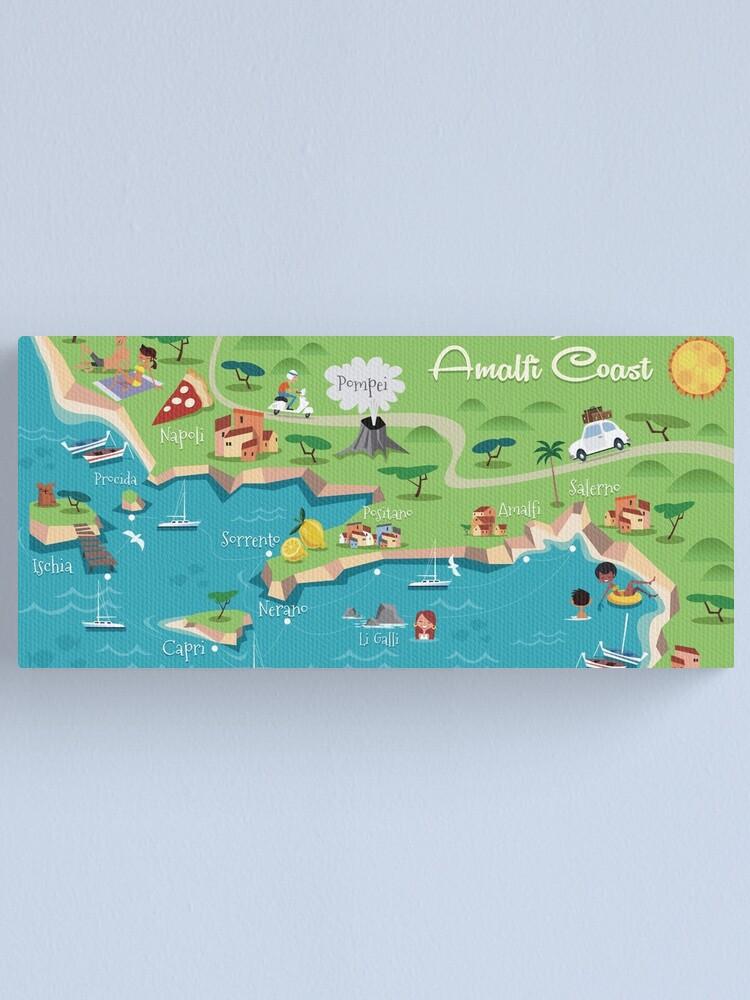 Amalfi Coast Poster Canvas Print