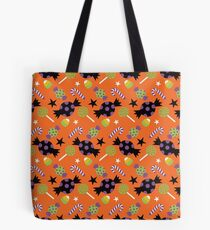 Trick or Treat Halloween Candy Bag, Candy Spooky Pattern Tote Bag