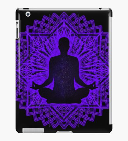 Meditation Inside a Lotus Flower iPad Case/Skin
