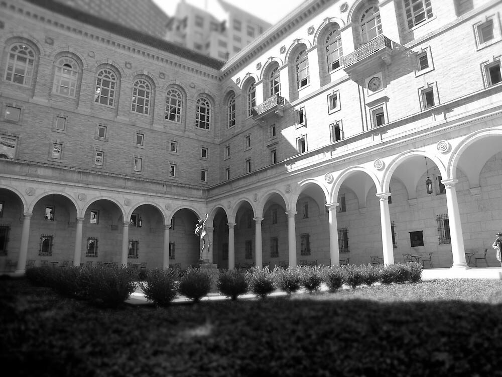 Boston Public Library, courtyard by colleenboston