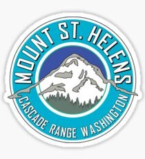MOUNT SAINT HELENS WASHINGTON CASCADE RANGE ST 2 Sticker