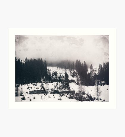 winter photo #winter #blackandwhite #photography Art Print