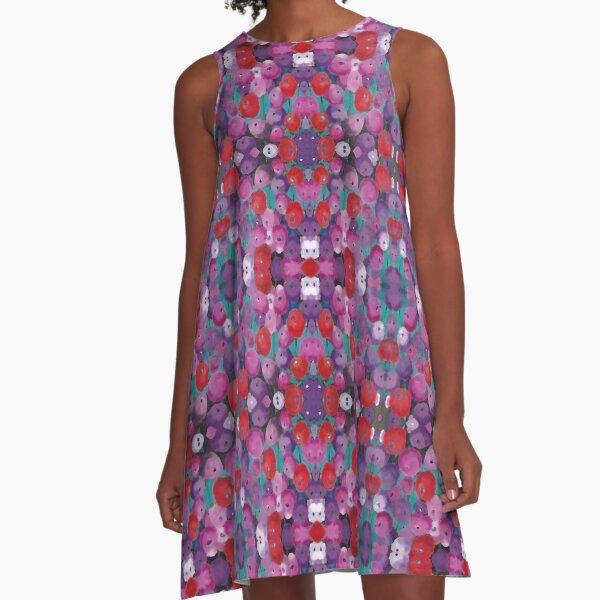 Wildflower Poppy Field A-Line Dress