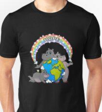 Rainbow Hippo World Hope  T-Shirt