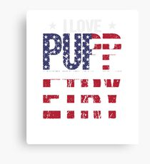 Puppetry Love Hobby USA Distressed Flag Canvas Print