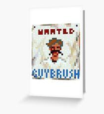 Wanted Guybrush Greeting Card