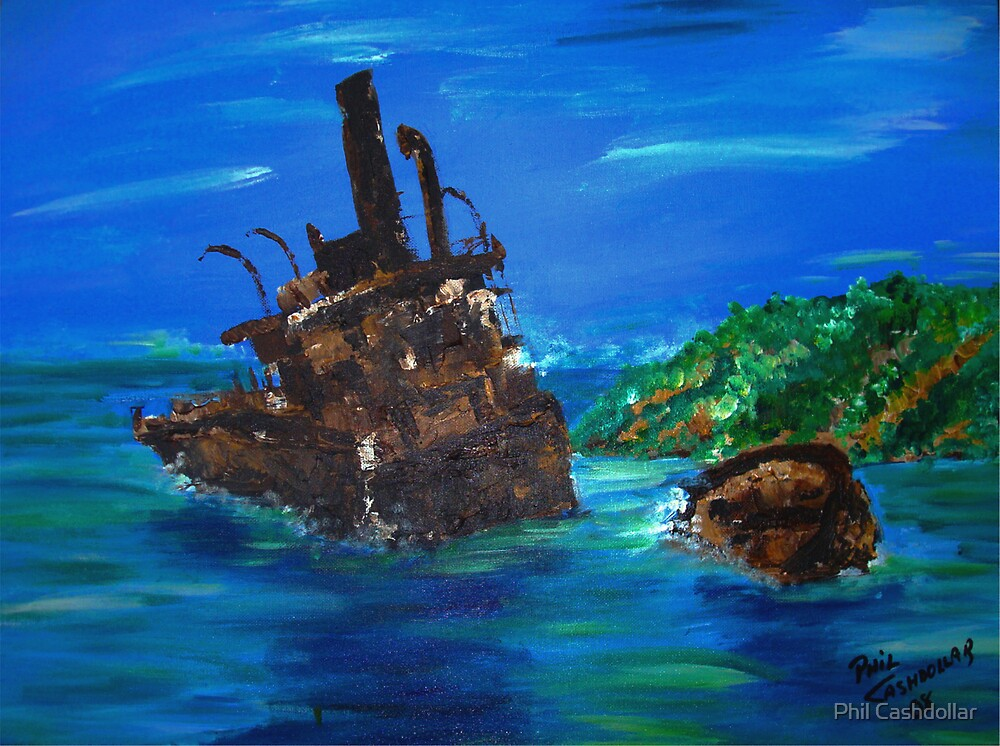 Francisco Moruzan Shipwreck by Phil Cashdollar