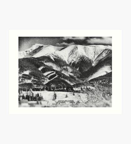 mountains Tatry #blackandwhite #photography Art Print