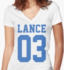 Lance Sport Jersey Women's Fitted V-Neck T-Shirt