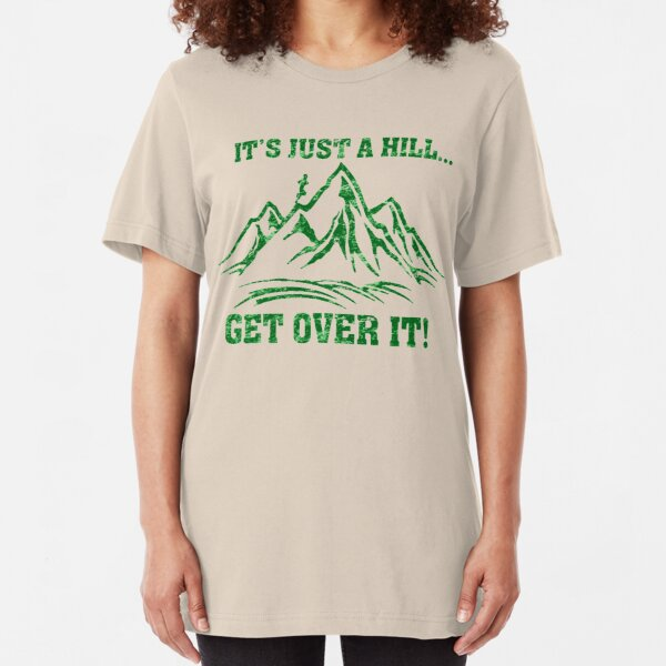 Cross Country Trail Runner Just a Hill Slim Fit T-Shirt