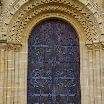 Buckfast Abbey Door by lezvee