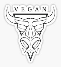 Vegan Bull Shield Sticker Sticker
