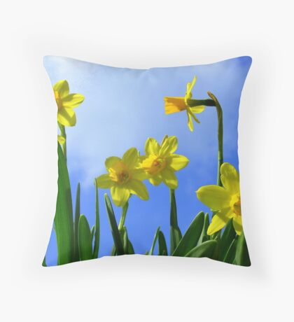 Narcissus in Sunshine Throw Pillow