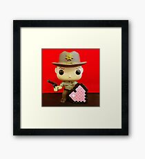 Rick Grimes Valentines Framed Print