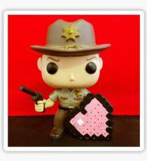 Rick Grimes Valentines Sticker